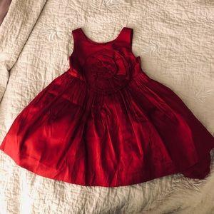 Janie & Jack Silk Red Dress